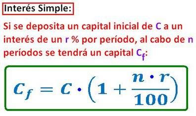 formula del interes simple