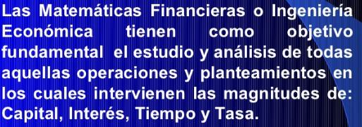 matematicas financieras, concepto