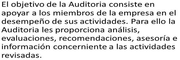 objetivo de la auditoria