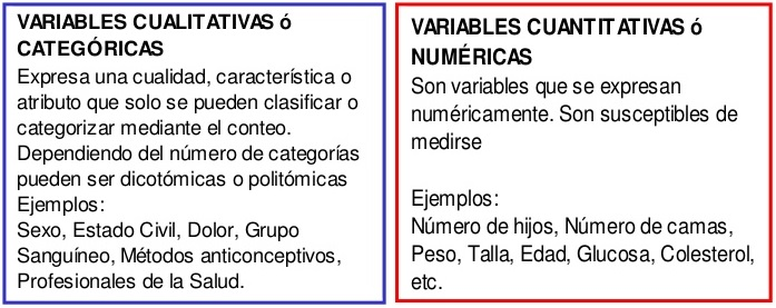 variable cualitativa vs cuantitativa